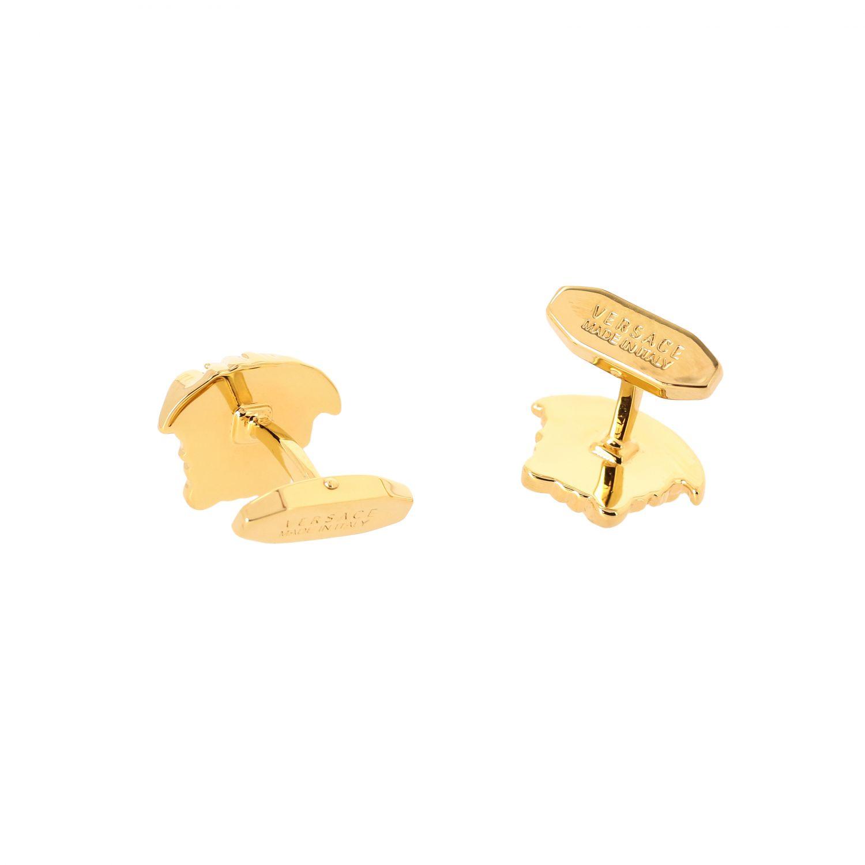 Запонки в форме логотипа Мужское Versace золотой 2