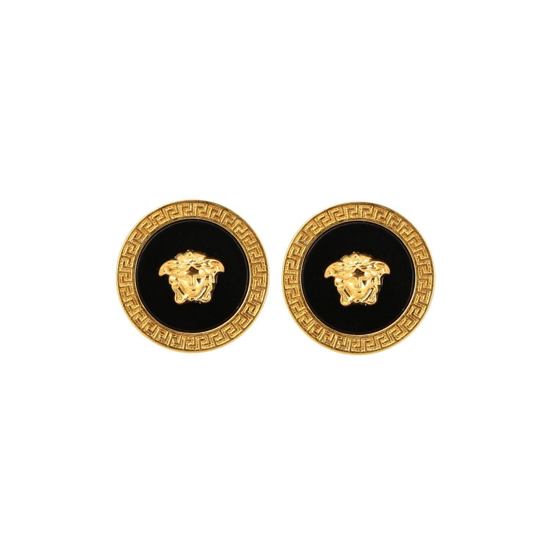Запонки в форме логотипа Мужское Versace черный 1