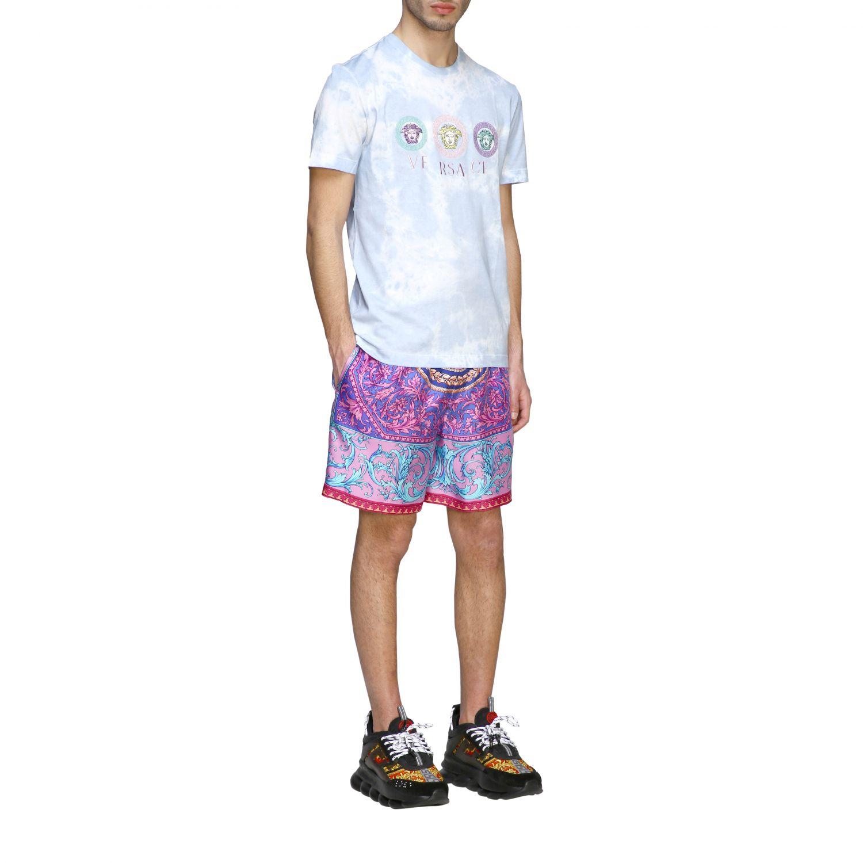 Шорты Versace: Шорты-бермуды Мужское Versace фиолетовый 2
