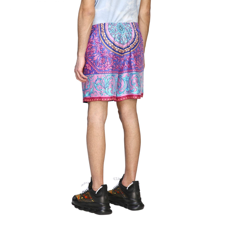 Шорты Versace: Шорты-бермуды Мужское Versace фиолетовый 3
