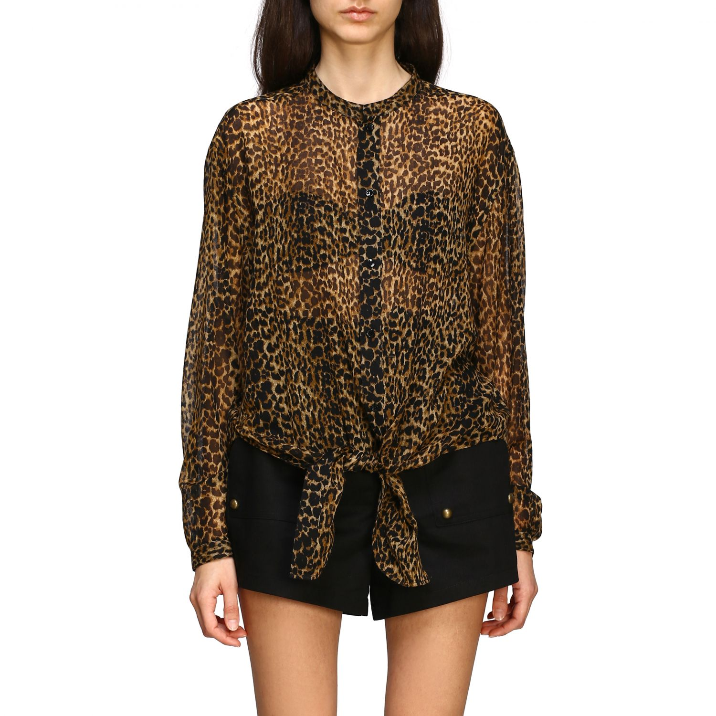 Saint Laurent shirt with animal print multicolor 1