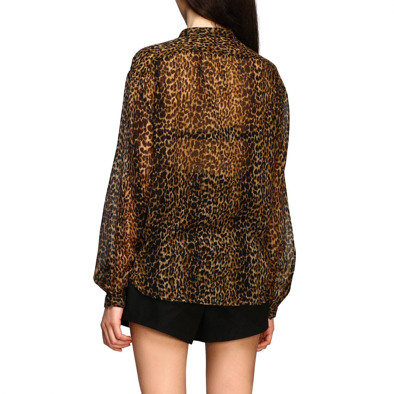 Saint Laurent shirt with animal print multicolor 3