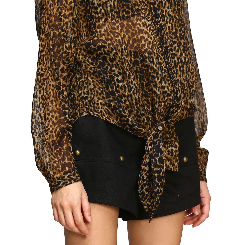 Saint Laurent shirt with animal print multicolor 5