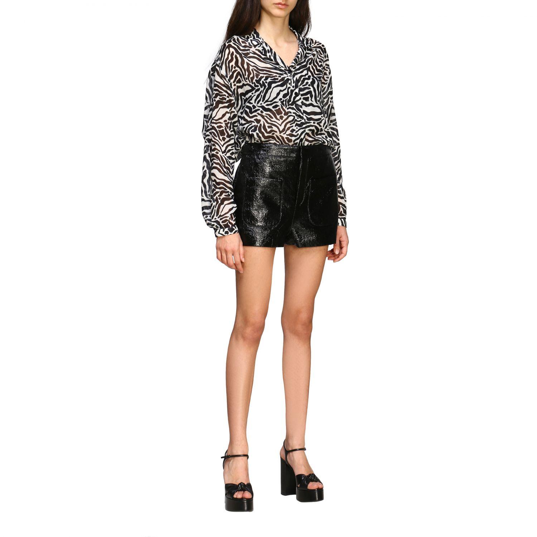 Camisa Saint Laurent con estampado animal negro 2