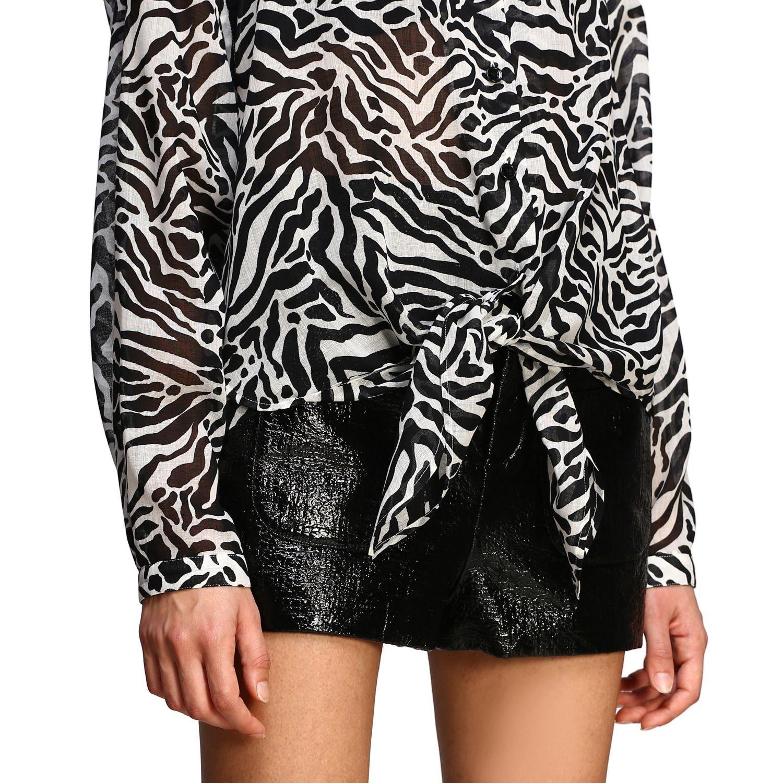 Camisa Saint Laurent con estampado animal negro 5