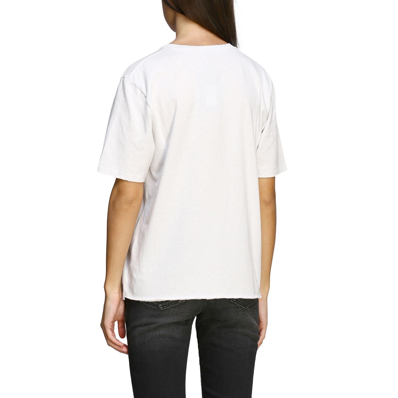 T-shirt Saint Laurent a maniche corte con stampa jardin majorelle e logo bianco 3