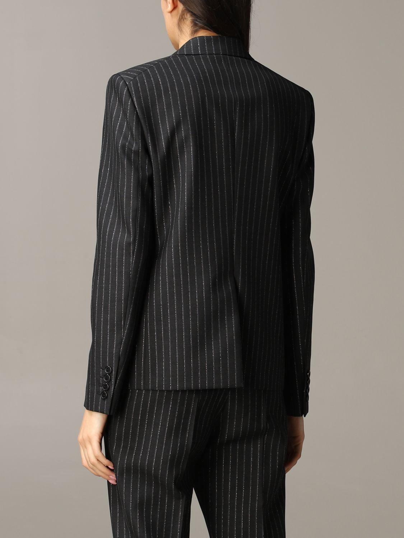 Saint Laurent pinstripe lurex jacket black 3