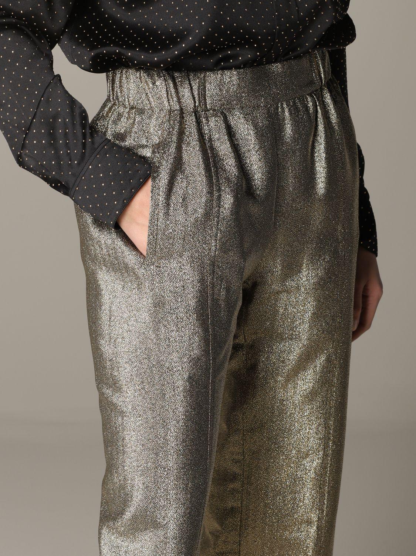 Pantalone Saint Laurent in tessuto laminato oro 5