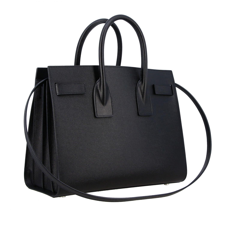 Bolso de mano Saint Laurent: Bolso Sac De Jour Saint Laurent en cuero grain de poudre negro 3
