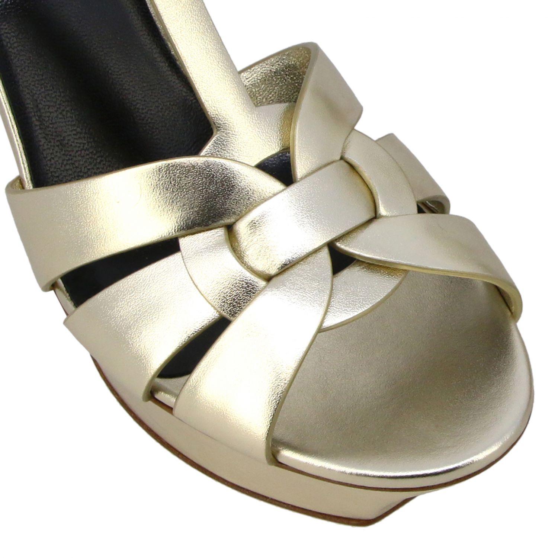 Shoes women Saint Laurent gold 4