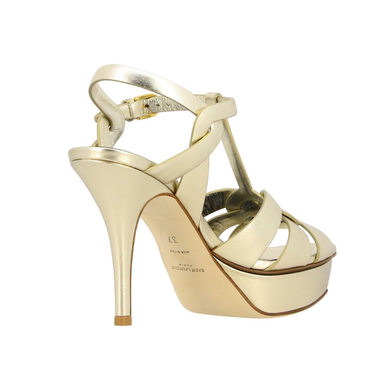 Shoes women Saint Laurent gold 5