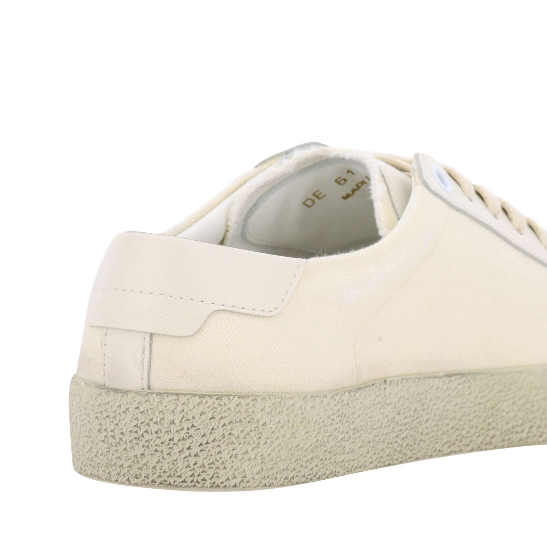 Saint Laurent Canvas Sneaker mit gesticktem Logo weiß 5