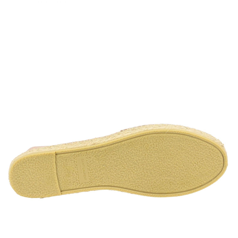 Эспадрильи Saint Laurent из кожи с логотипом нюд 6