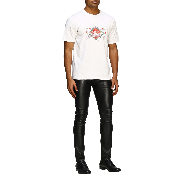 T-shirt men Saint Laurent white 2