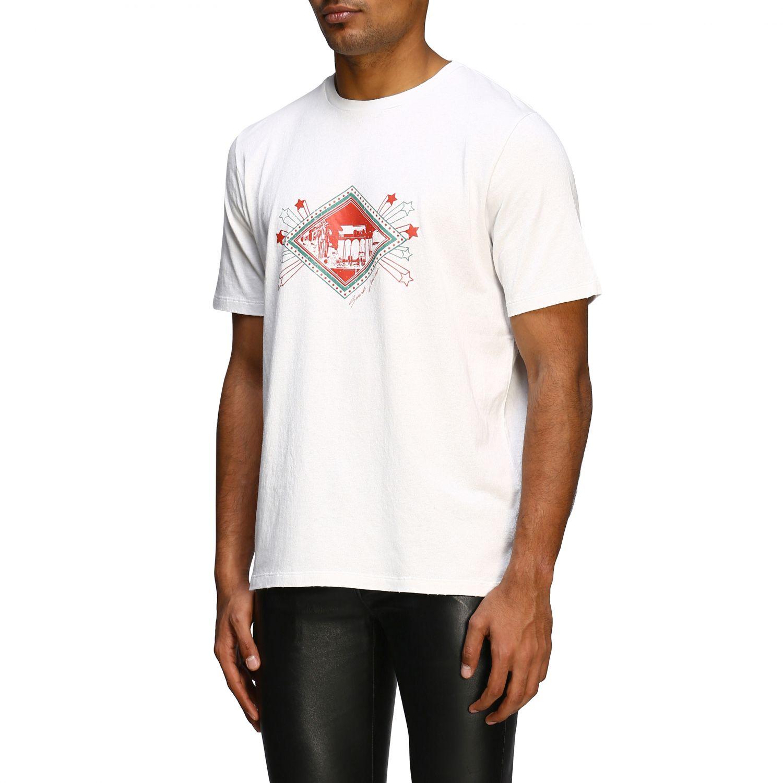 T-shirt men Saint Laurent white 4
