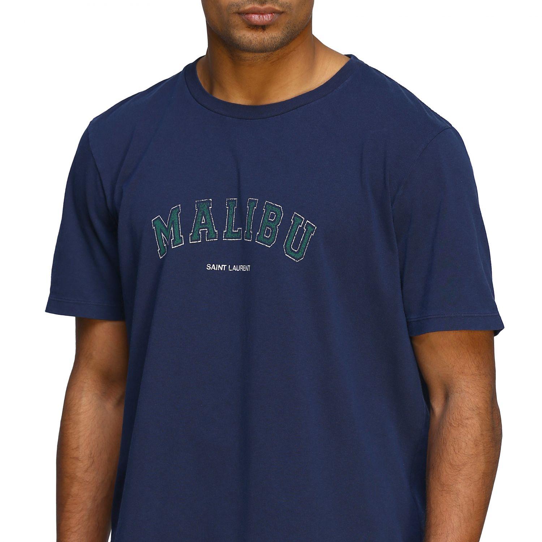 Футболка Saint Laurent с короткими рукавами Malibù синий 5