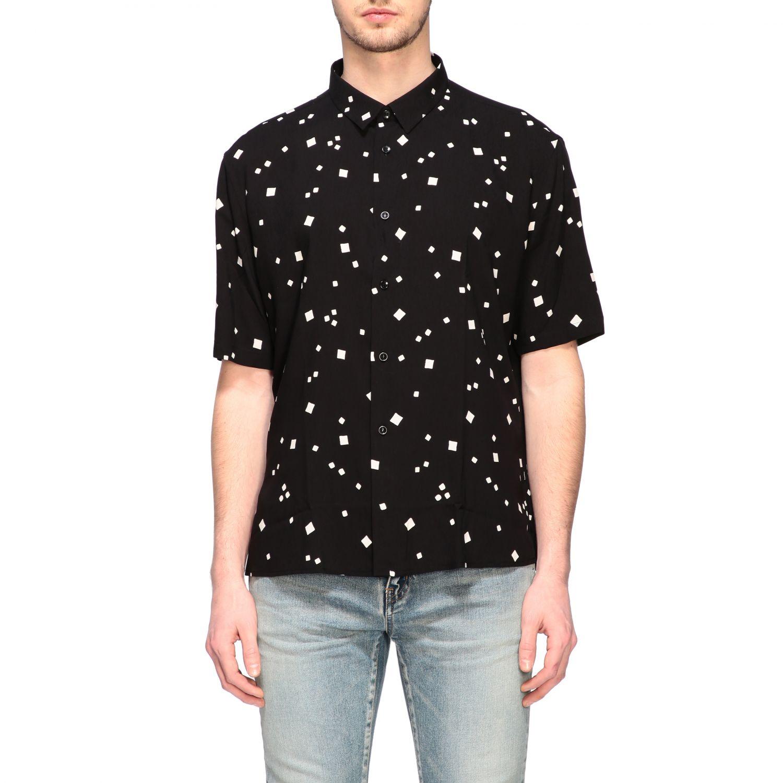 Shirt men Saint Laurent black 1