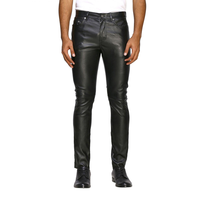 Pants Saint Laurent: Saint Laurent skinny trousers in stretch leather black 1