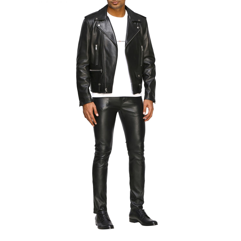 Pants Saint Laurent: Saint Laurent skinny trousers in stretch leather black 2