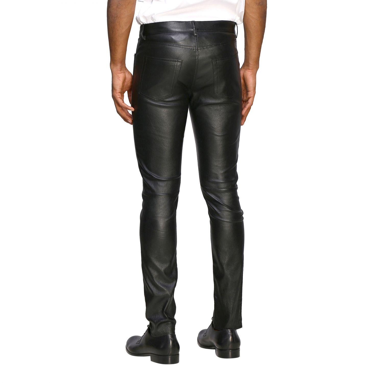 Pants Saint Laurent: Saint Laurent skinny trousers in stretch leather black 3