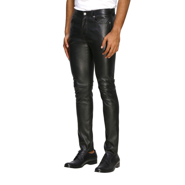Pants Saint Laurent: Saint Laurent skinny trousers in stretch leather black 4