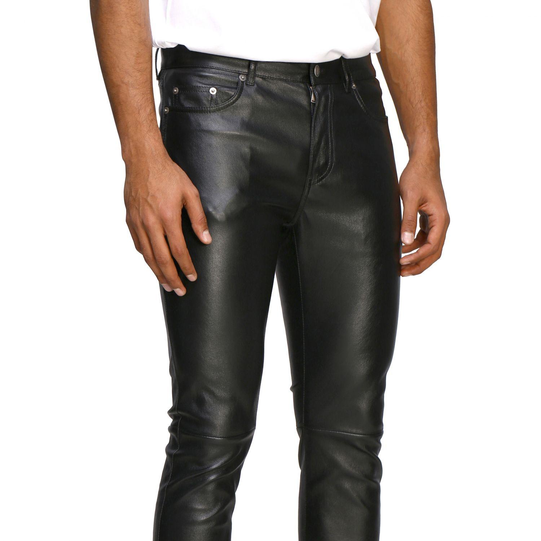 Pants Saint Laurent: Saint Laurent skinny trousers in stretch leather black 5