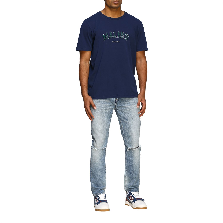 Jeans Saint Laurent skinny a vita media in denim stretch used denim 2