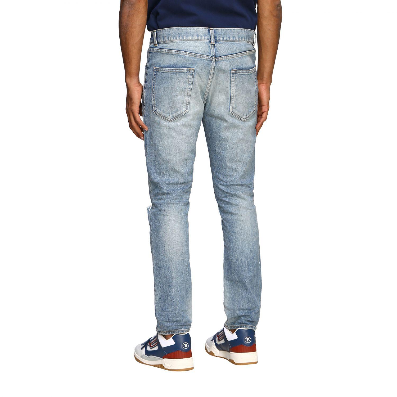 Jeans Saint Laurent skinny a vita media in denim stretch used denim 3