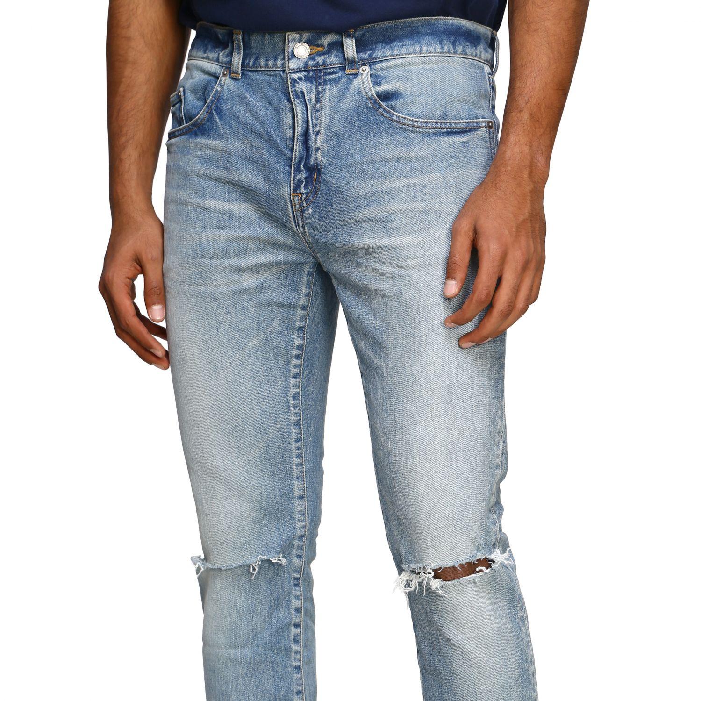 Jeans Saint Laurent skinny a vita media in denim stretch used denim 5