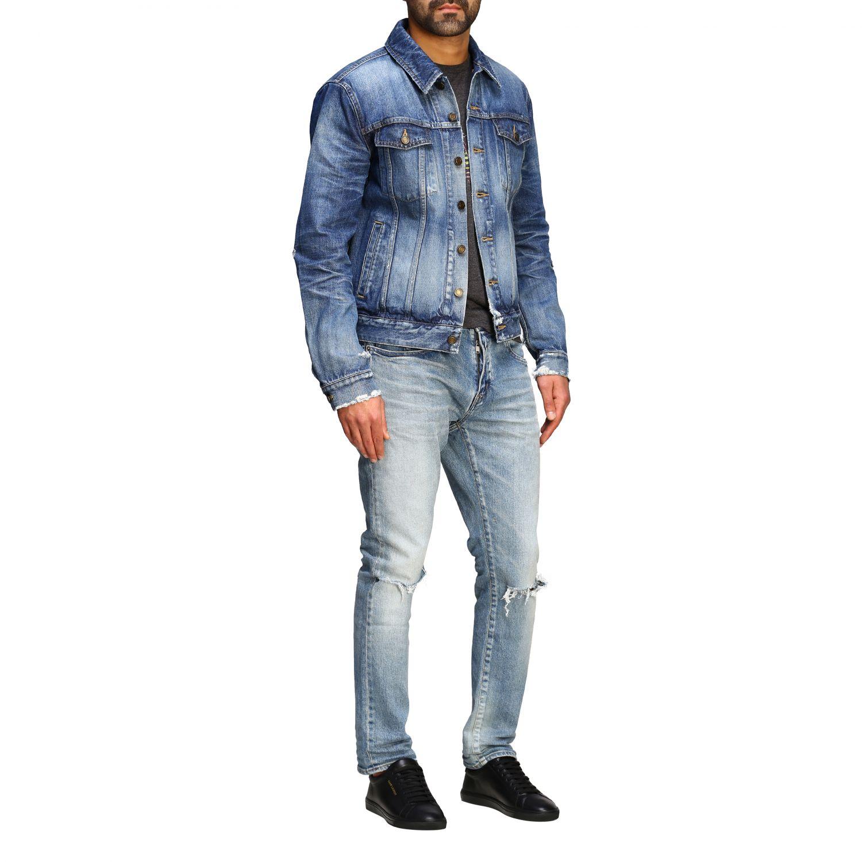 Jacket men Saint Laurent denim 2