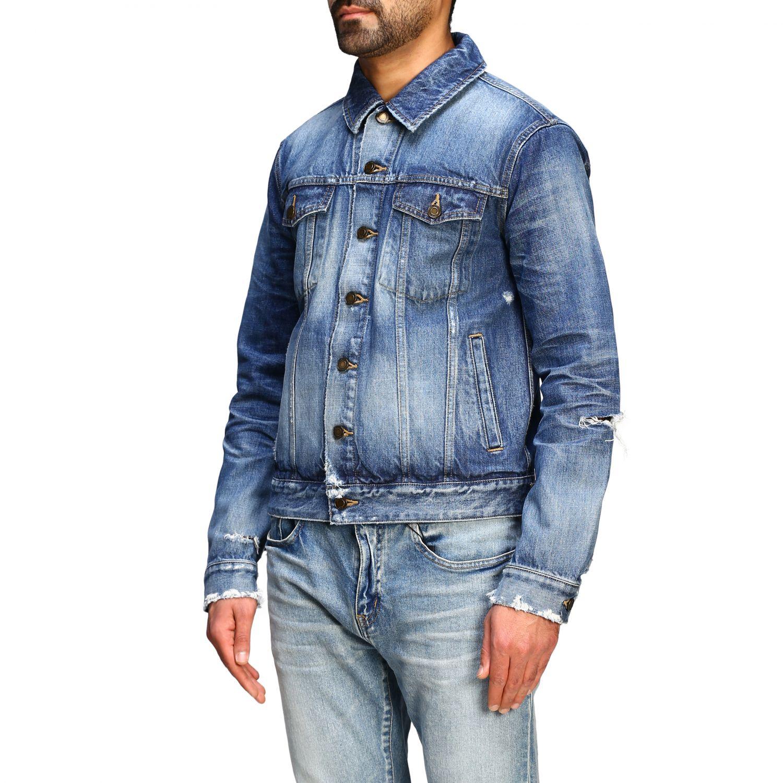 Jacket men Saint Laurent denim 4