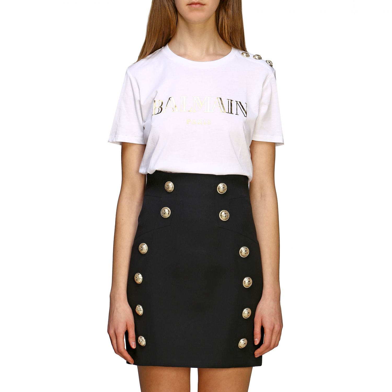 T-shirt women Balmain white 1 1