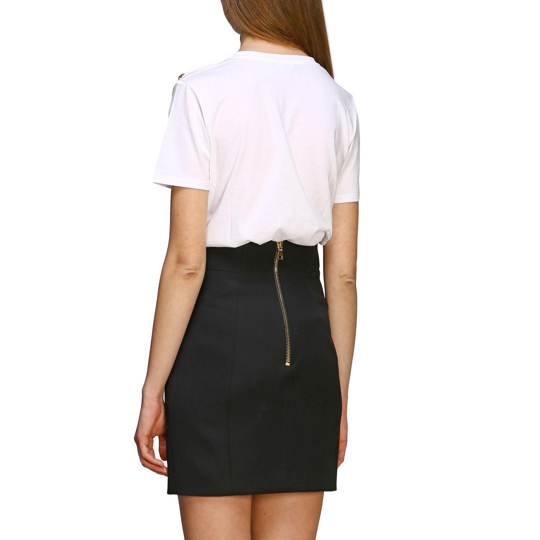 T-shirt women Balmain white 1 2