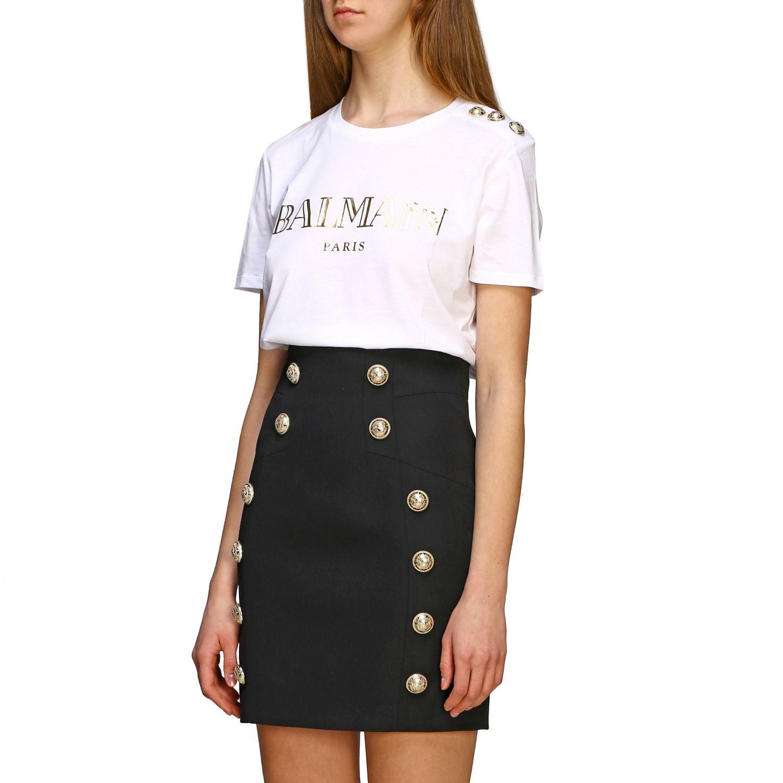T-shirt women Balmain white 1 3