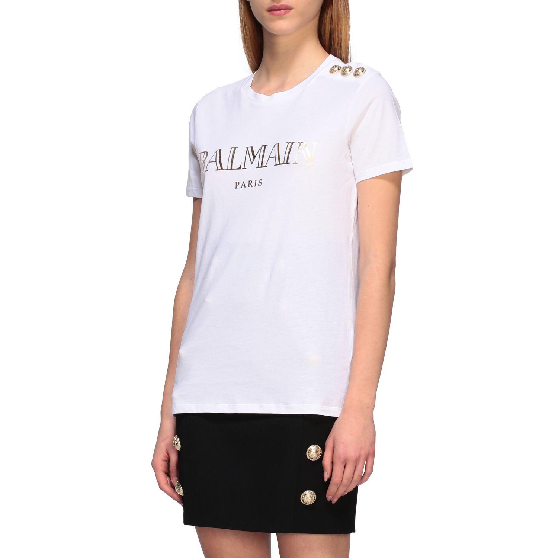 T-shirt women Balmain white 1 4