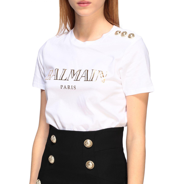 T-shirt women Balmain white 1 5