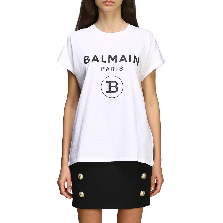 T-shirt women Balmain white 1