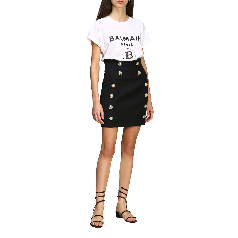 T-shirt women Balmain white 2