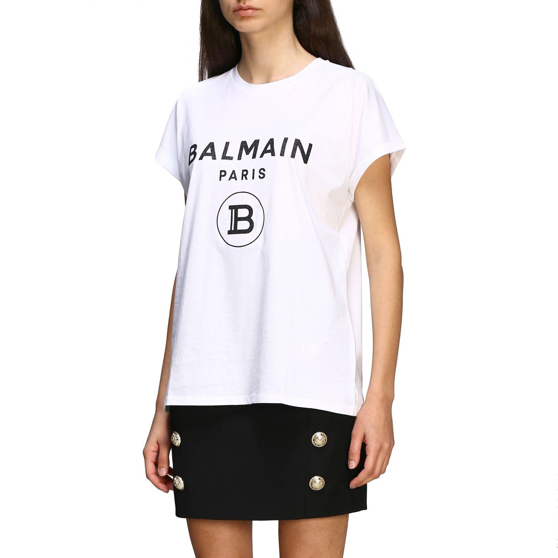 T-shirt women Balmain white 4