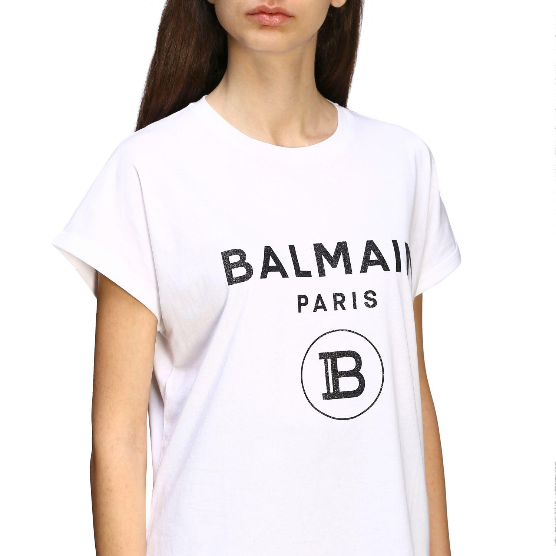 T-shirt women Balmain white 5