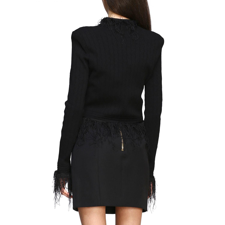 Balmain short-sleeved jacket with fringes black 3
