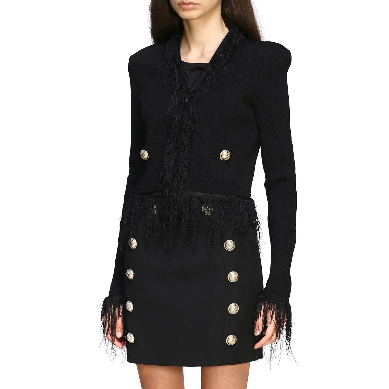 Balmain short-sleeved jacket with fringes black 4