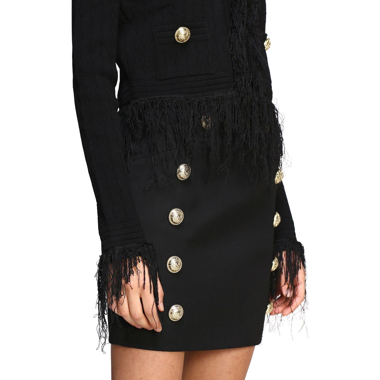 Balmain short-sleeved jacket with fringes black 5