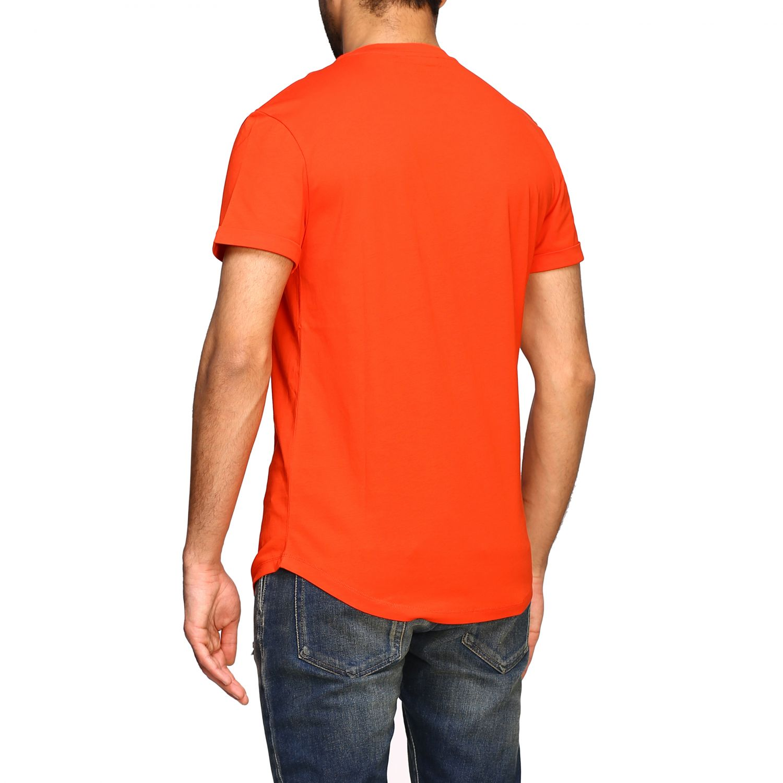 T-shirt Balmain: Balmain short-sleeved T-shirt with flocked crest red 3