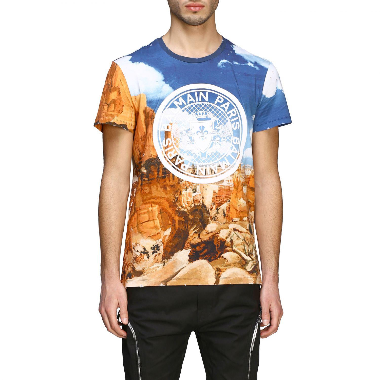 T-Shirt Balmain: Balmain T-Shirt bedruckt mit Logo bunt 1