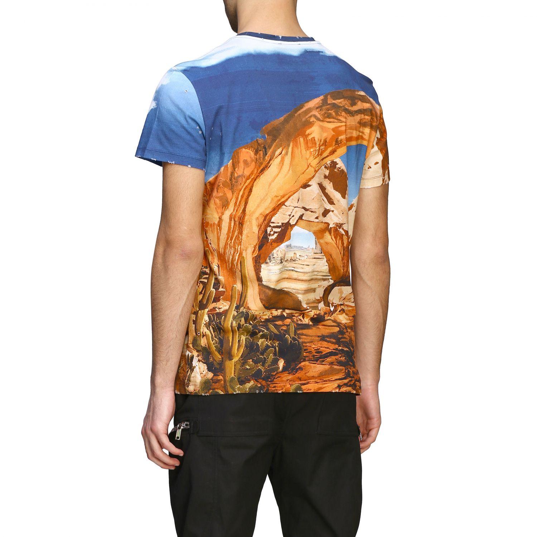 T-Shirt Balmain: Balmain T-Shirt bedruckt mit Logo bunt 3