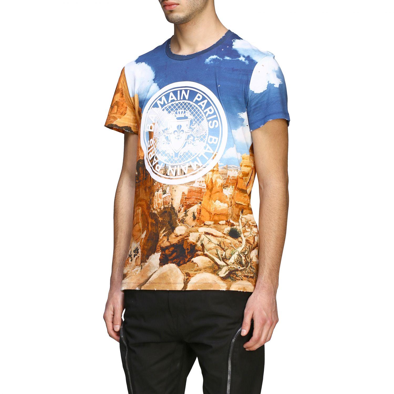 T-Shirt Balmain: Balmain T-Shirt bedruckt mit Logo bunt 4