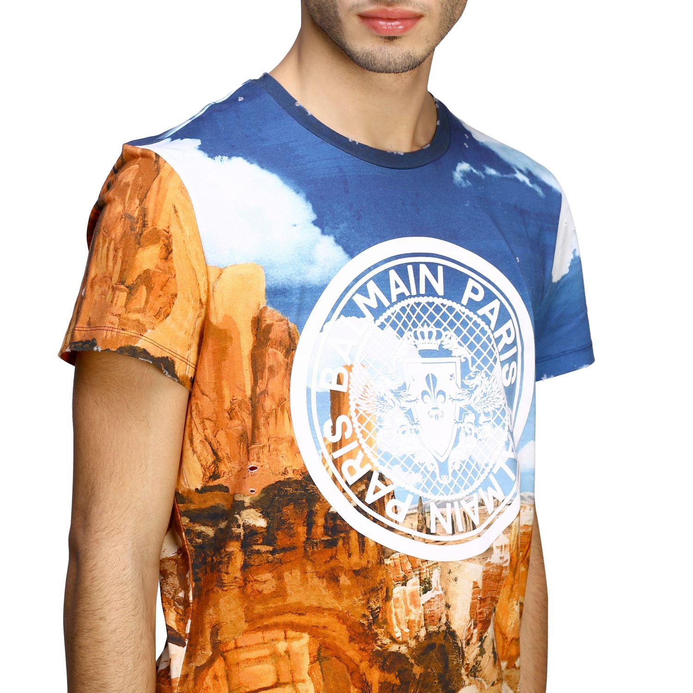 T-Shirt Balmain: Balmain T-Shirt bedruckt mit Logo bunt 5
