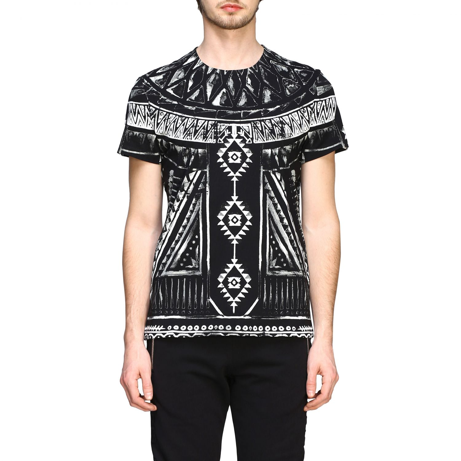 T-shirt Balmain: Balmain printed t-shirt with short sleeves black 1
