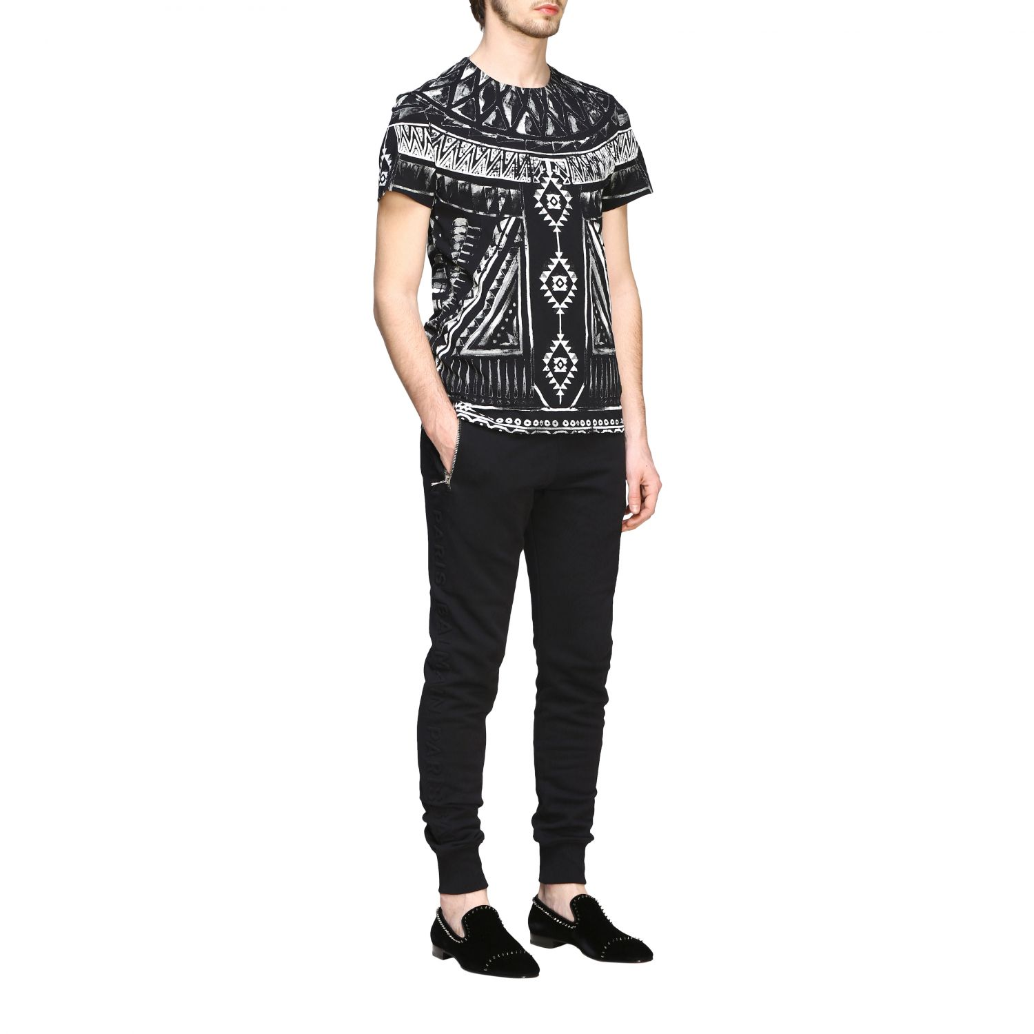 T-shirt Balmain: Balmain printed t-shirt with short sleeves black 2